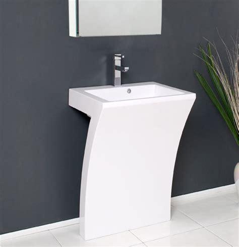 contemporary bathroom pedestal sinks fresca quadro 22 5 modern bathroom vanity fresca white