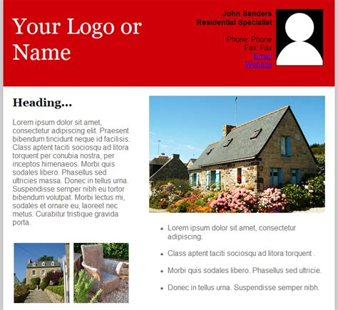 Email Newsletter Templates Real Estate by Email Templates For Real Estate Newsletters And Marketing
