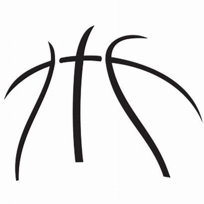 Clipart Basketball Nike Outline Vector Cliparts Clip