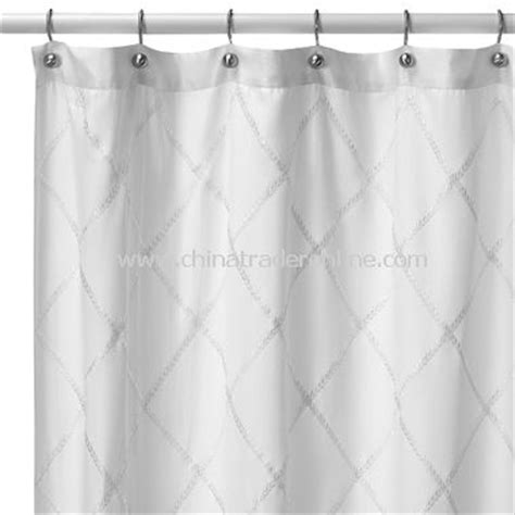 wholesale hotel collection valencia white fabric shower