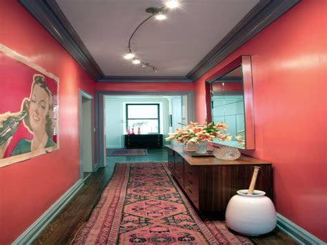 wall painting ideas for hall shades of coral colored