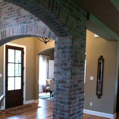 exposed brick wall  family room living room love