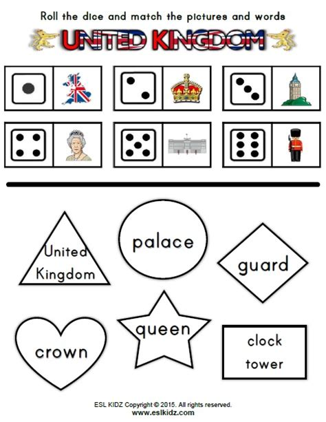 united kingdom worksheets activities games