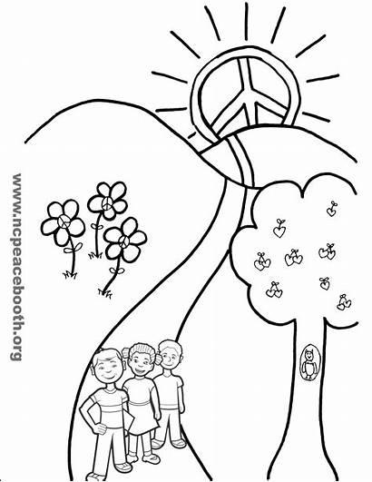Peace Colorear Para Dibujos Paz El Materials