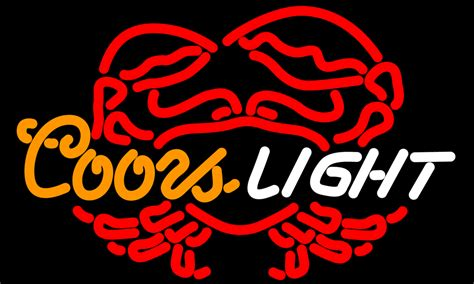 coors light neon sign coors light crab neon sign neon