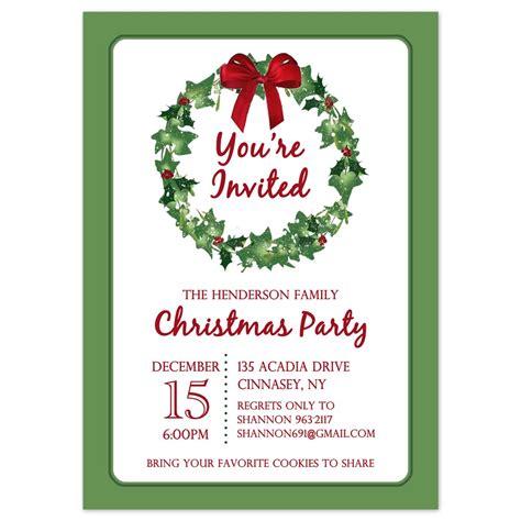 printable christmas party invites