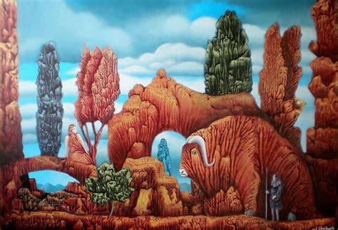 Der Alte Garten by Der Alte Garten Surreal Natur Landschaft Malerei