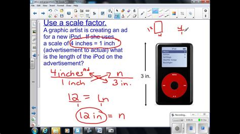 scale drawings  scale factor  grade math youtube