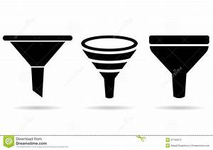 Funnel icon stock vector. Image of button, sifter, sign ...