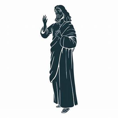 Jesus Silhouette Silueta Santo Holy Transparent Silhueta