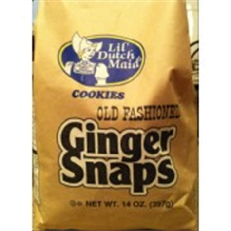 lil dutch maid  fashioned ginger snaps cookies