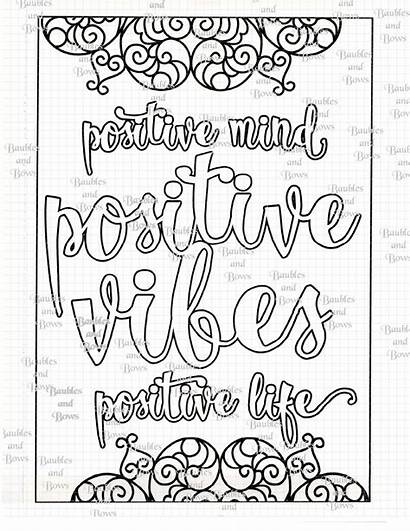 Coloring Positive Adult Mandala Printable Lds Quotes