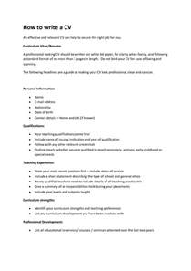What Do I Need To Write In My Resume by How To Write A Cv Fotolip Rich Image And Wallpaper