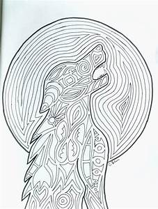 Werewolf Adult Coloring Page 8x10 Printable