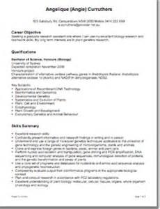 resume biology major graduate cv grad school application exle