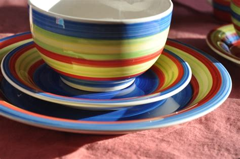colorful dishes update your dining room decor with brylanehome the fashionable housewife