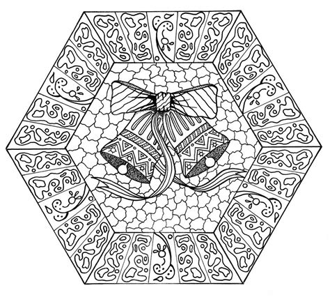 jingle bells mandala coloring page favecraftscom