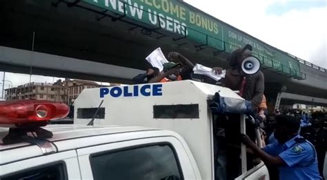 Police arrest Journalists, Protesters during anti-fuel ...