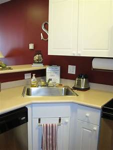 Modern Small Corner Kitchen Sink Design