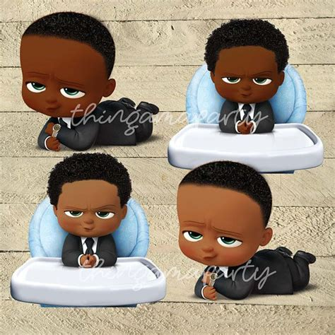 african american boss baby boy babies  color set afro