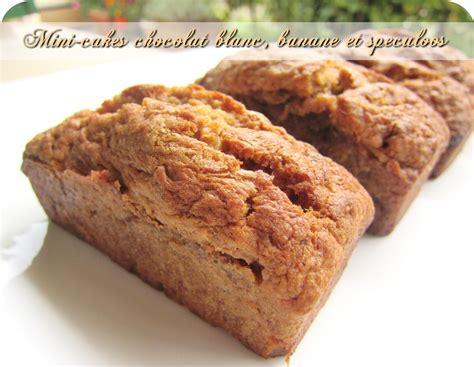 mini cakes chocolat blanc banane speculoos cuisine