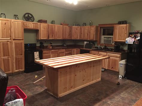hickory kitchen island kitchen overview hickory cabinets from lowes walnut