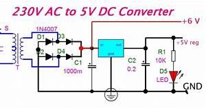 Eeetricks Blogspot Com  230v Ac To 5v Dc Converter Circuit Diagram