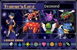 Pokemon Trainer Card Desmond By Tyranno Tycoon On Deviantart