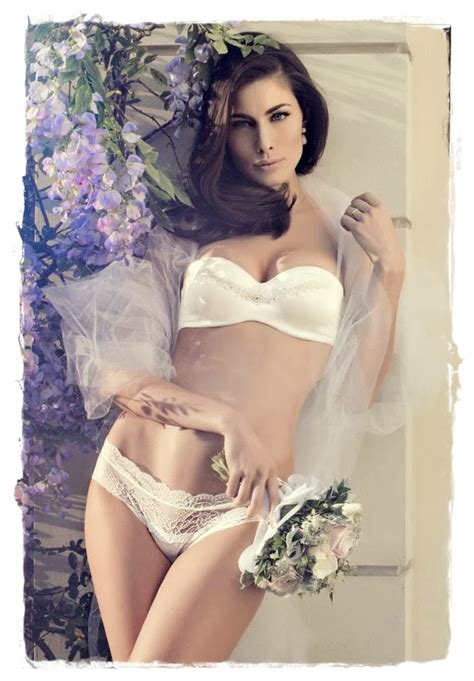 Lingerie Models Marica Pellegrinelli Poses In Yamamay Lingerie Catalog Spring 2014 Intimate