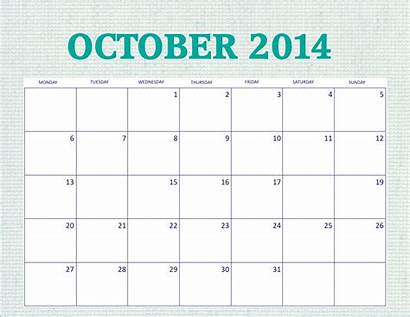 Calendar Printable October Calendars Monthly Month Simple