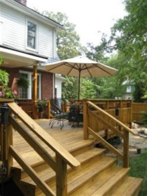 build deck stair handrails   build  house