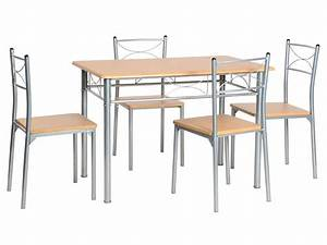 Conforama Table Et Chaise : ensemble table 4 chaises sernan coloris gris h tre ~ Dailycaller-alerts.com Idées de Décoration