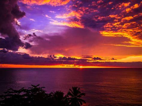 sunset corcega beach rincon puerto rico photo sunset