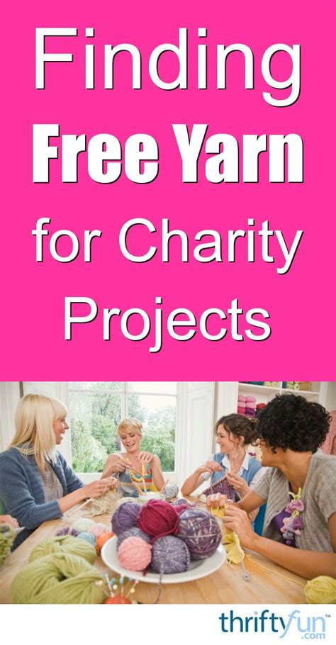 finding  yarn  charity projects thriftyfun