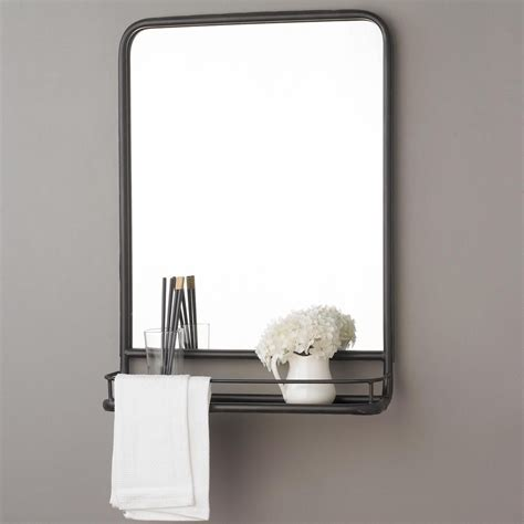 Bathroom Mirror With Shelf And Light by Metal Mirror With Shelf Small Metal Mirror Shelves