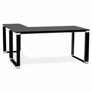 Bureau D Angle But : bureau d 39 angle design corporate en bois noir ~ Teatrodelosmanantiales.com Idées de Décoration