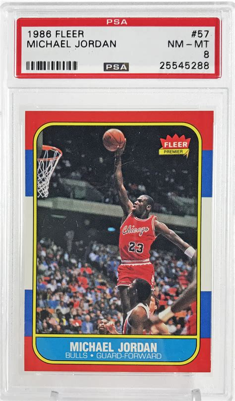 Why michael jordan rookie cards are different. Lot Detail - 1986-87 Fleer Michael Jordan Rookie Card #57 - PSA Graded NM-MT 8!