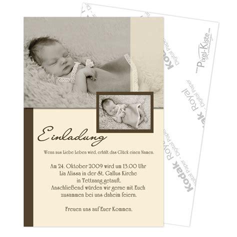 einladung zur taufe mit foto  bestellen