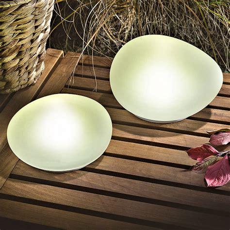 Garten Deko Leuchtsteine by Solar Leuchtsteine Duo 2er Set Echtglas Satiniert Led