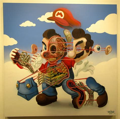 cutaway portraits  pop culture icons  nychos earthly
