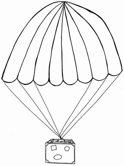 Parachute Drawing Drift Birth Getdrawings