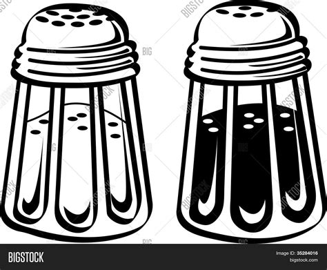 salt and pepper clipart black and white salt pepper shakers vector photo free trial bigstock