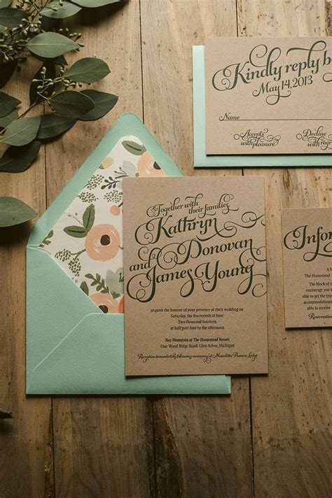 Wedding Invitation Ideas from Pinterest StyleCaster