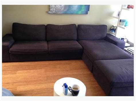 ikea 3 kivik sofa set sofa chaise and ottoman