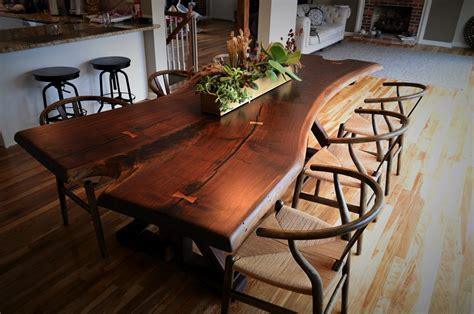 live edge black walnut dining table live edge black walnut table cz woodworking