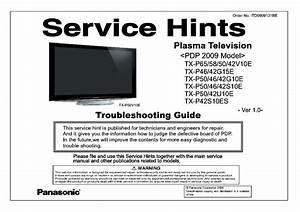 Panasonic Pdp 2009 Model Troubleshooting Guide Tx
