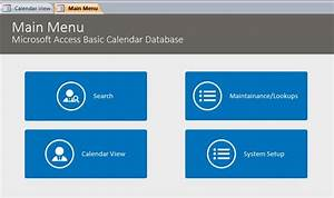 Microsoft Access Quote Database Basic Calendar Scheduling Database Template Calendar