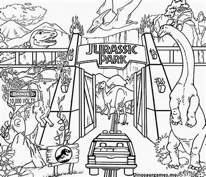 Coloring Jurassic Park Dinosaur