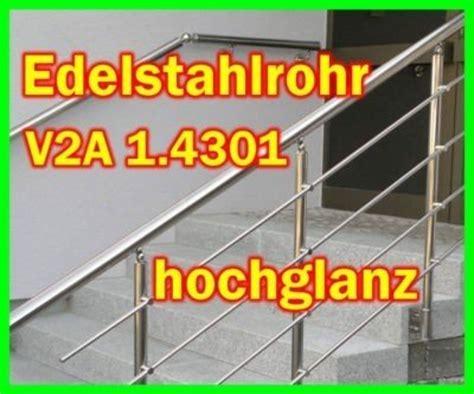 holzfarbe für aussen edelstahl v2a rohr edelstahlrohr hochglanzpoliert f 195 188 r innen und aussen handlauf