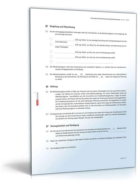Das vorliegende muster für interim manager berücksichtigt wie alle verträge von easycontracts vor allem die kommunikation zwischen den parteien. Vertrag Suchmaschinenmarketing | Muster zum Download